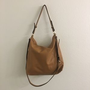 A new day  leather tan tote